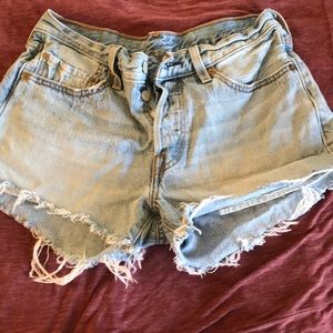 Levis button fly cutoffs